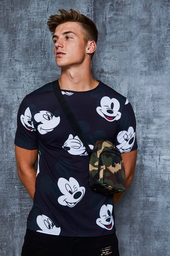 Disney All Over Mickey Print T-Shirt