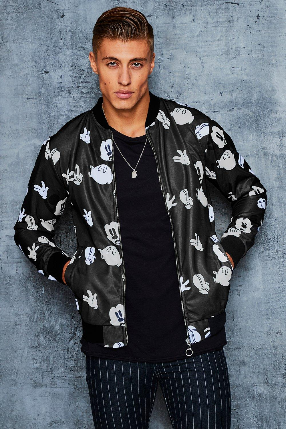 Disney All Over Print Bomber With Back Embroidery