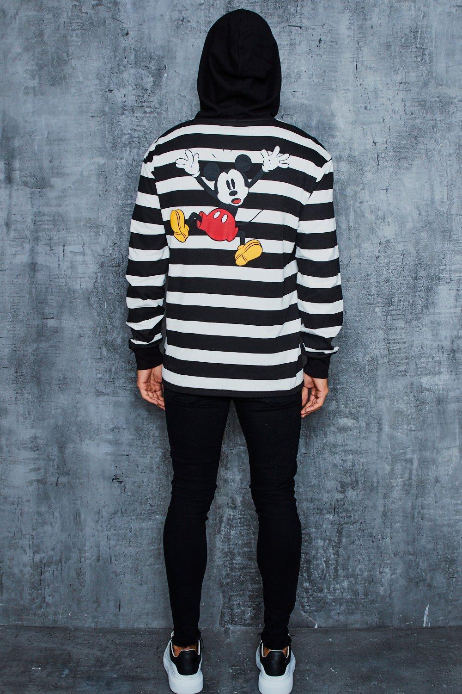 Disney Stripe Hoodie With Back Print