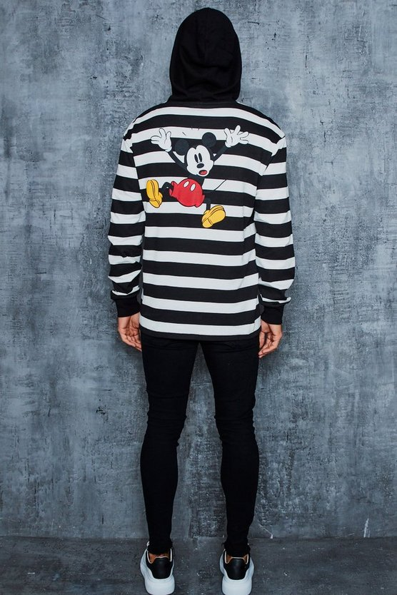 Disney Stripe Hoodie With Back Print