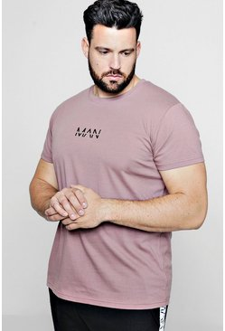 Big & Tall Longline T-Shirt von Original MAN, Braun, Herren