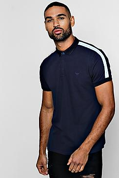 Short Sleeve Polo With Side Tape