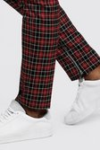 02912ade2352 ... Mens Red Tartan Smart Trouser With Zip Ankle Detail alternative image