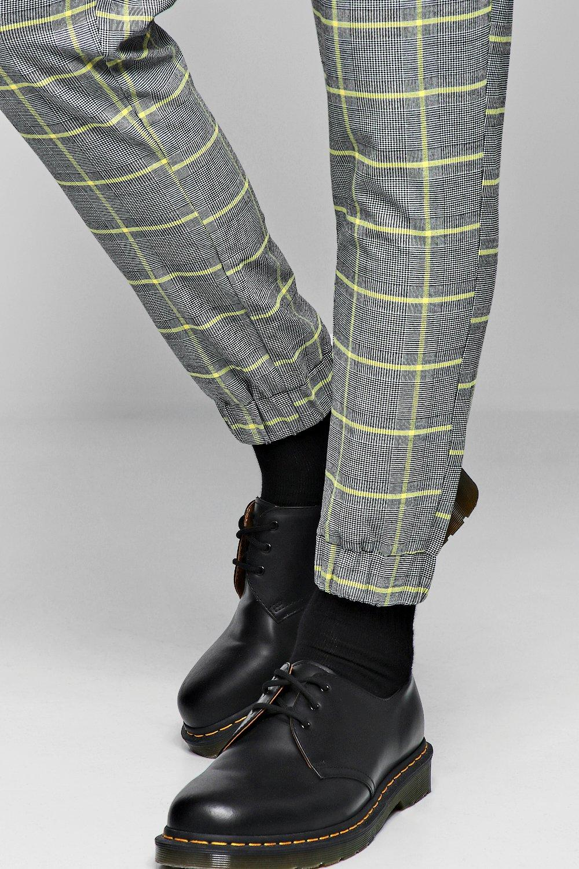 Check Cropped grey Jogger Smart Check Smart Cropped THFBw6gqq
