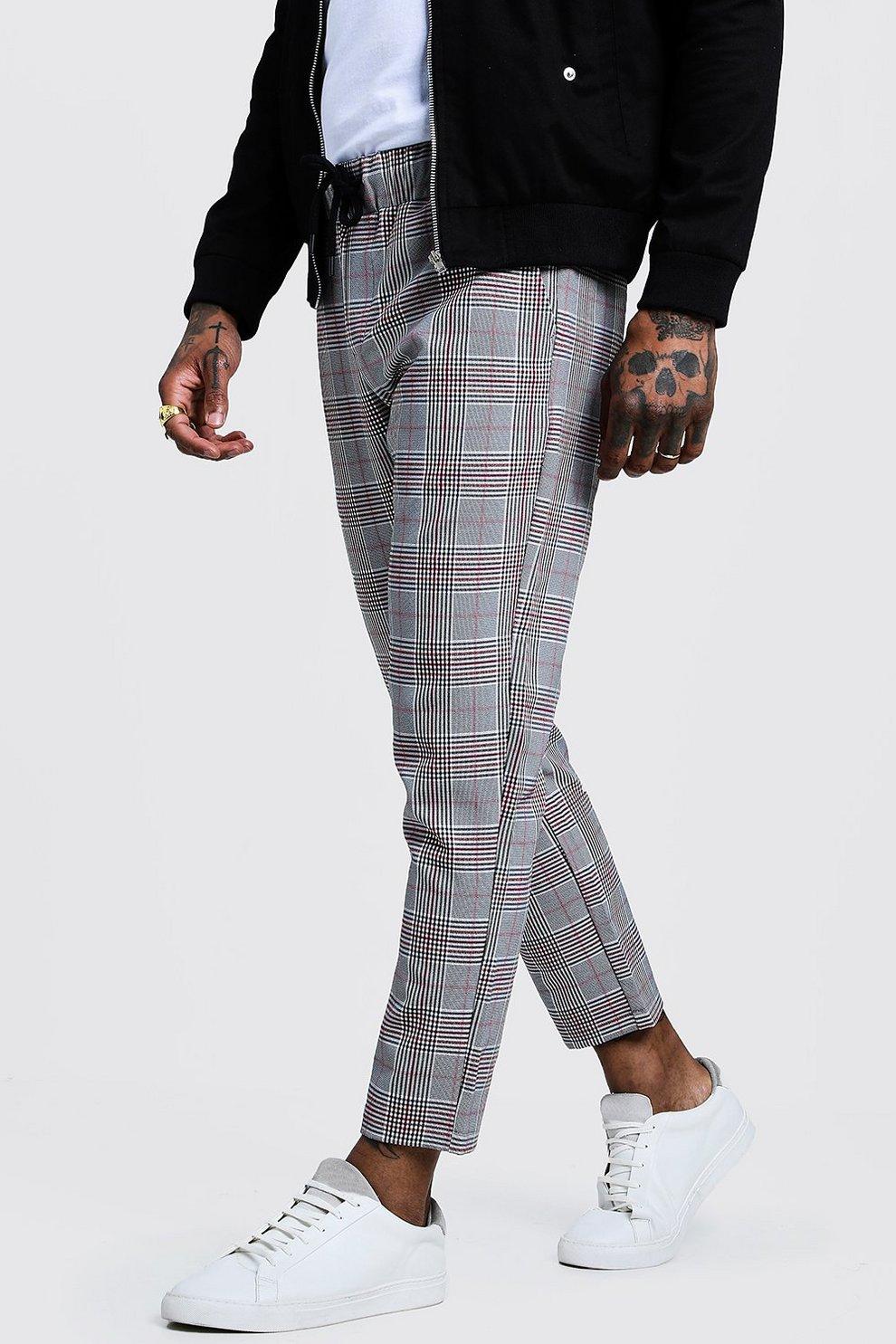 c6981e59d5 Pantaloni tuta eleganti a pinocchietto con motivo a quadri e ...