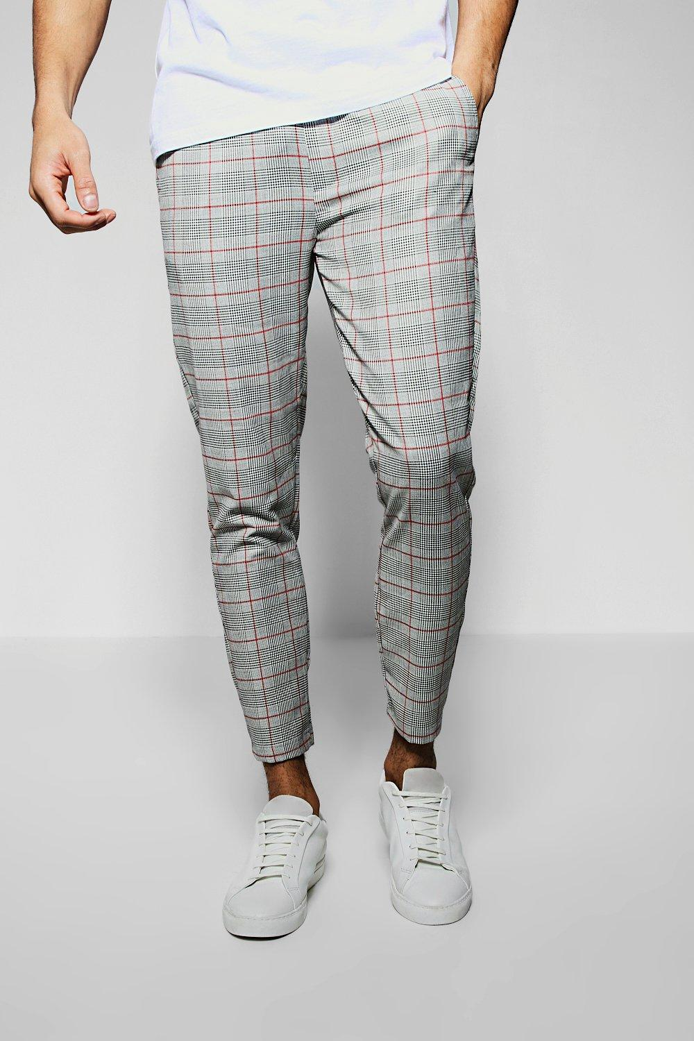 Smart Window Pane Checked Cropped Jogger