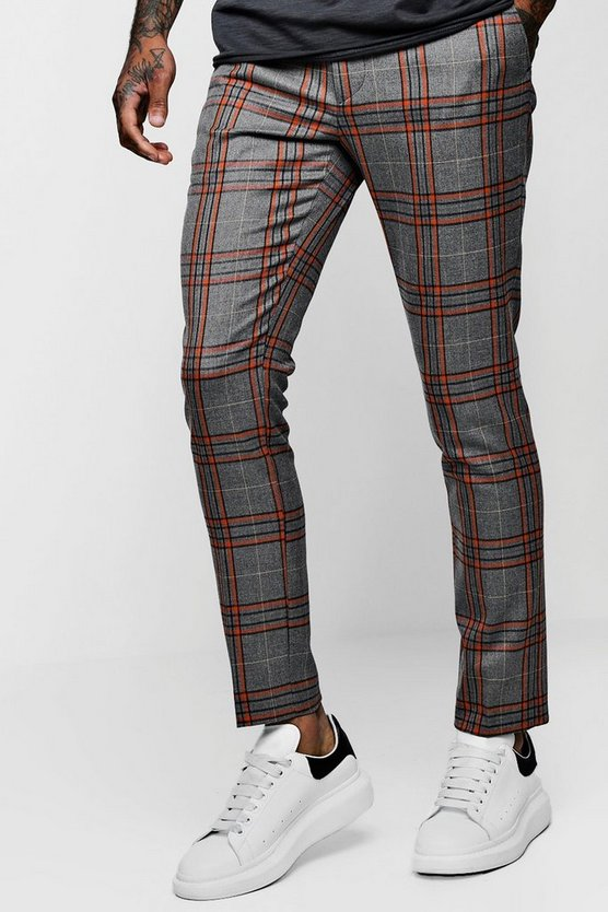 Bold Detail Check Cropped Trouser