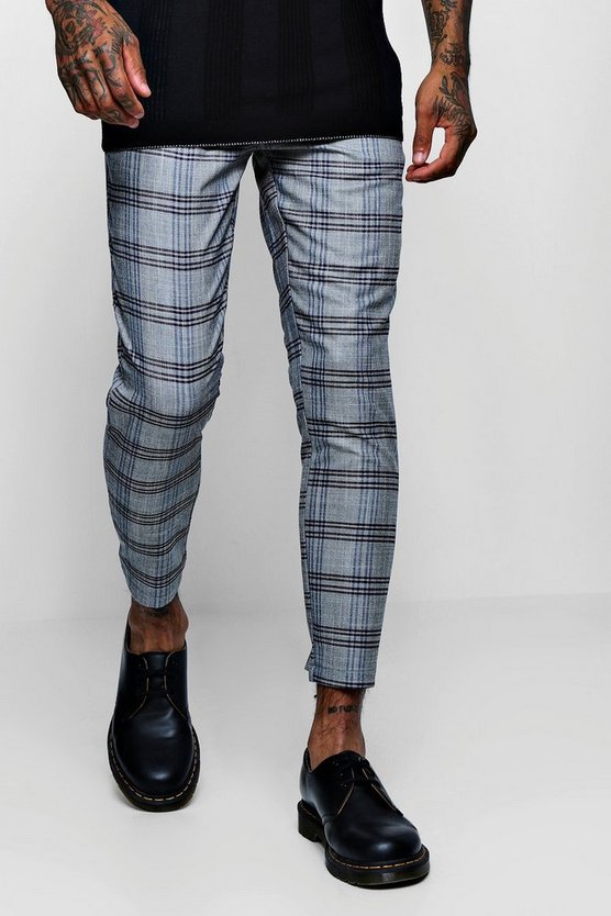 Smart Check Cropped Jogger
