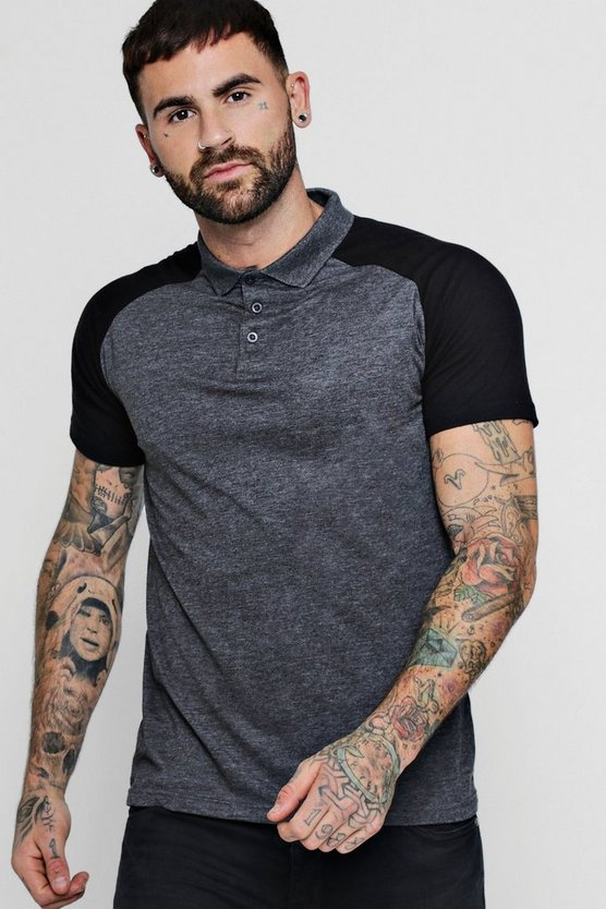 Short Sleeve Jersey Raglan Polo