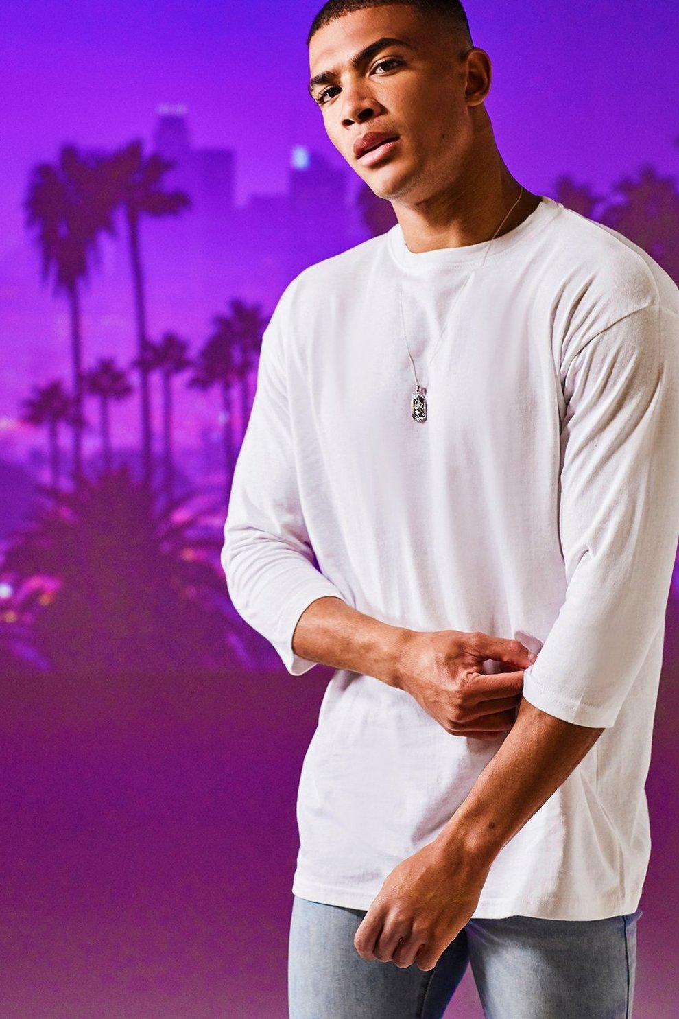 2d9f3e7b9 Loose Fit 3/4 Sleeve T-Shirt | Boohoo