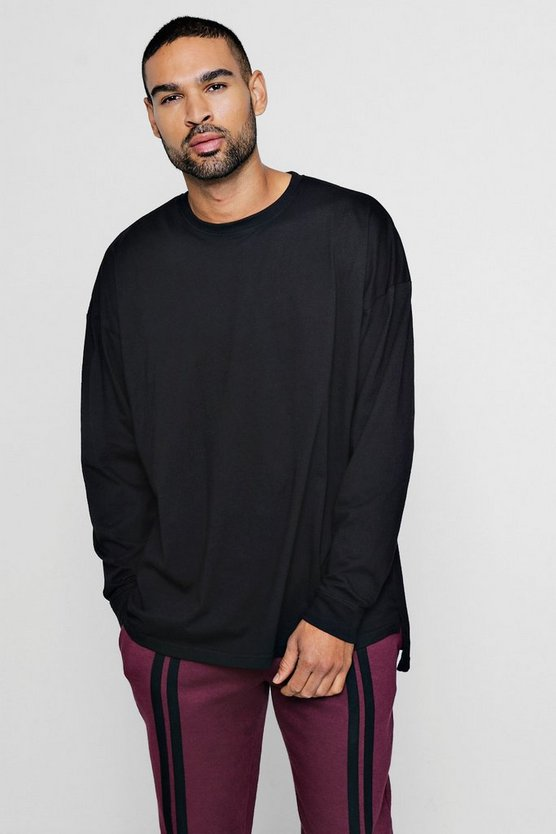 Long Sleeve Oversized Split Hem T-Shirt