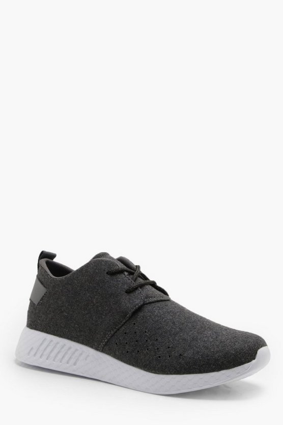 Wool Look Lace Up Trainer