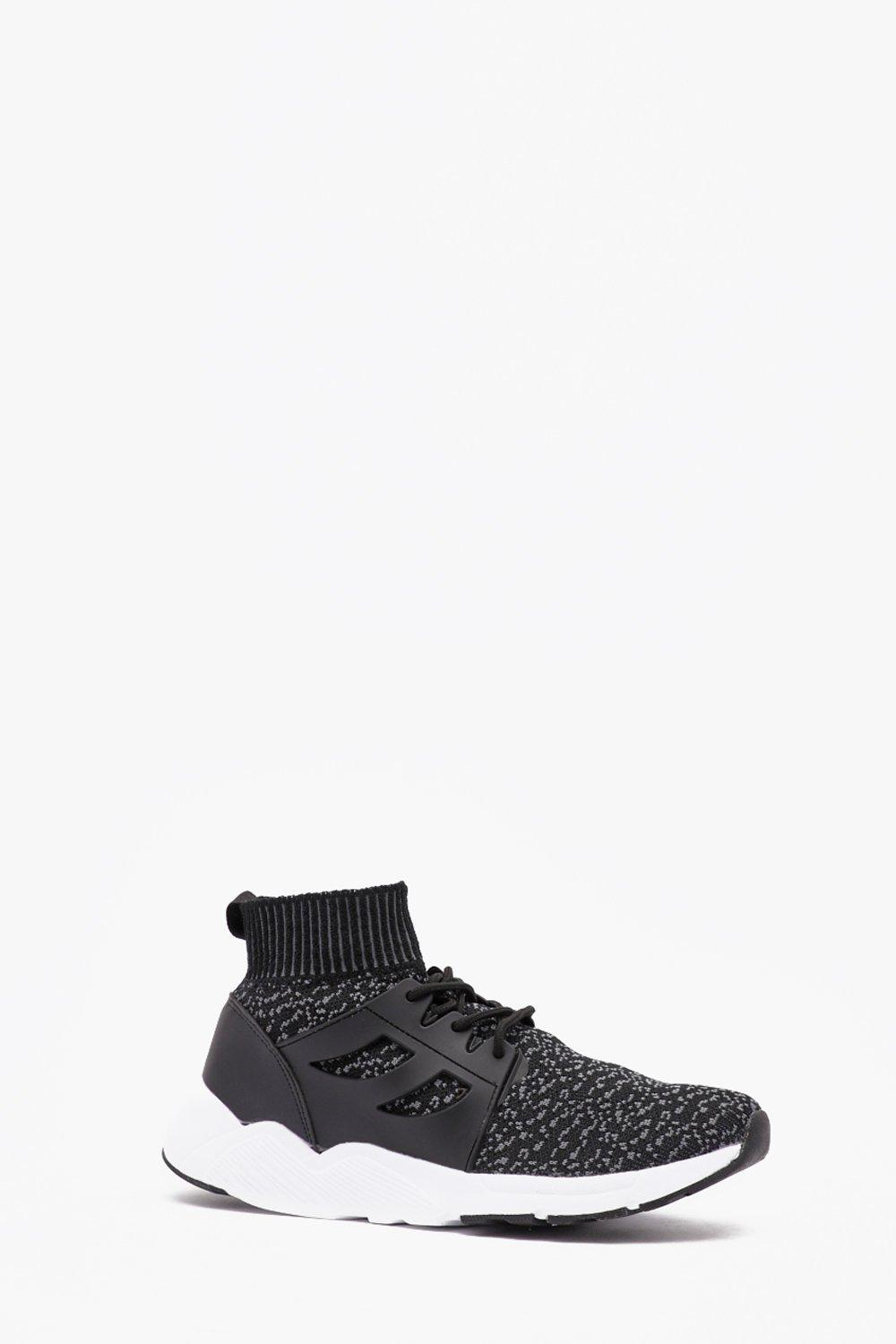 Knitted Sock Detail Trainer