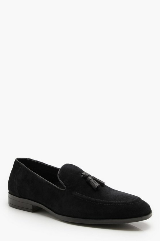 Real Suede Tassel Loafer