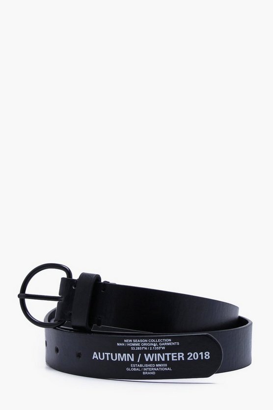 Faux Leather O Ring AW18 Print Belt