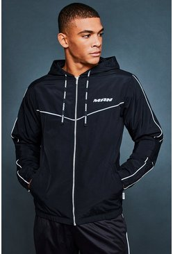 Mens Black Active Running Jacket