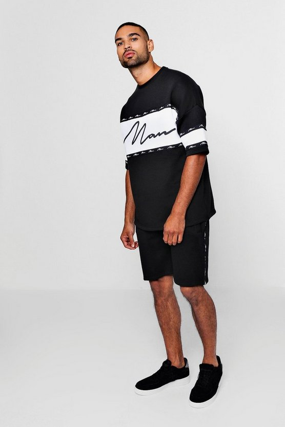 Contrast Panel MAN Signature Tape Short Set
