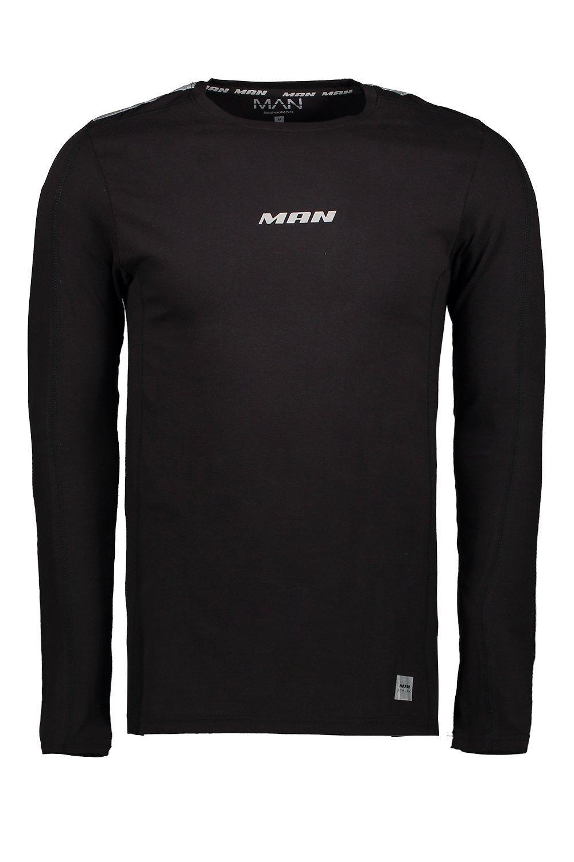 black Long Reflective Active Sleeve T Shirt nRx8vqB41