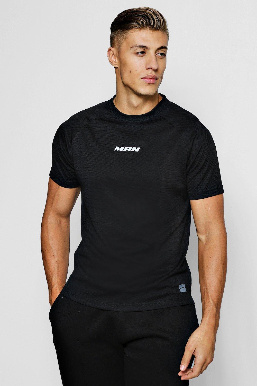 360d9d2da50f7 Details about Boohoo Mens MAN Active Gym T-Shirt With Step Hem