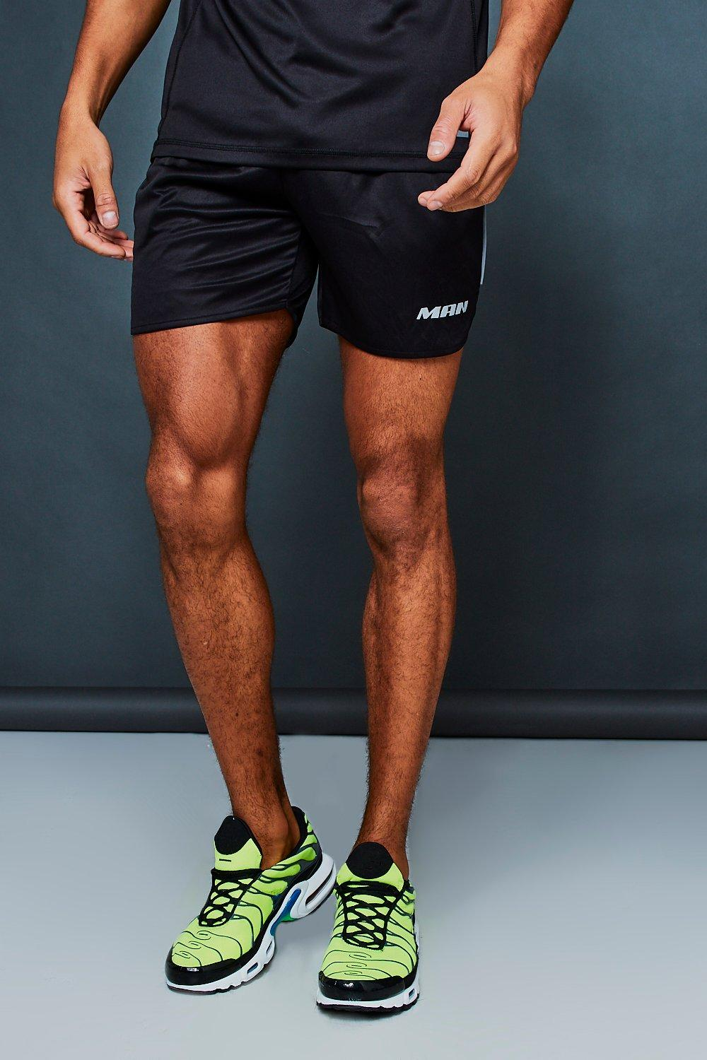 Active Gym Runner Shorts With Reflective Print
