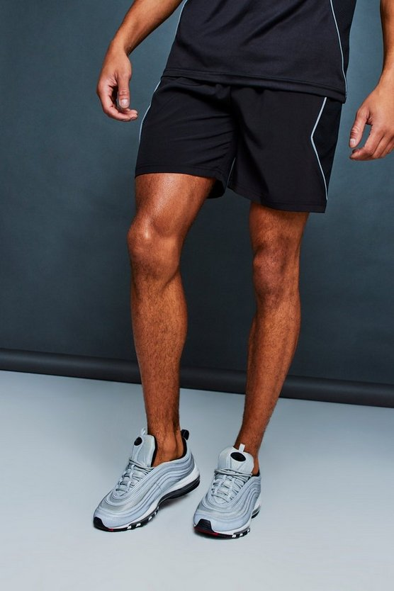 MAN Active Gym Reflective Panel Shorts