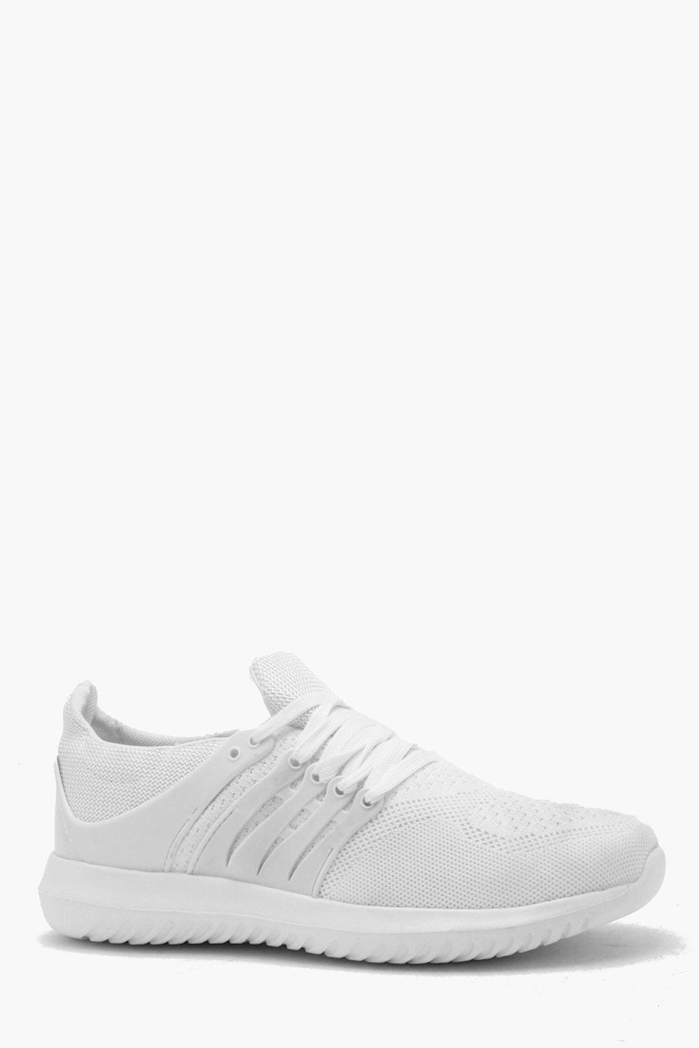 Fly Knit Lace Up Trainer