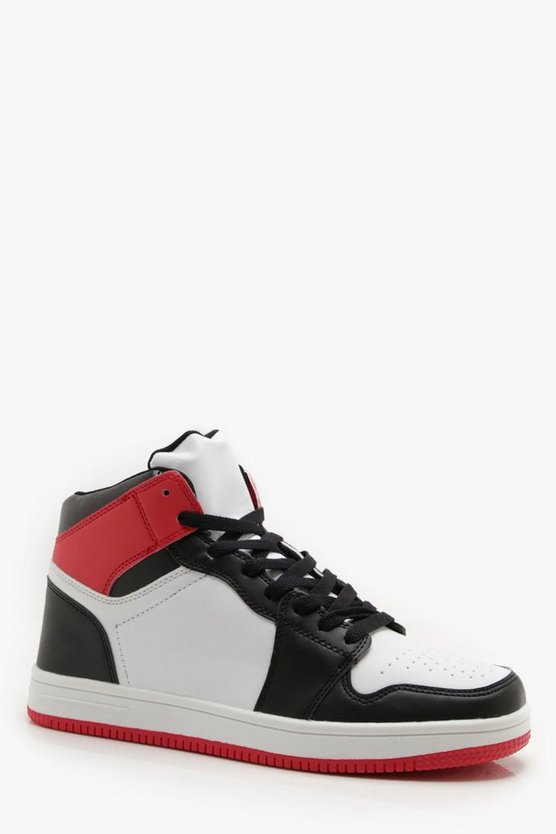 Faux Leather Sporty Hi Top