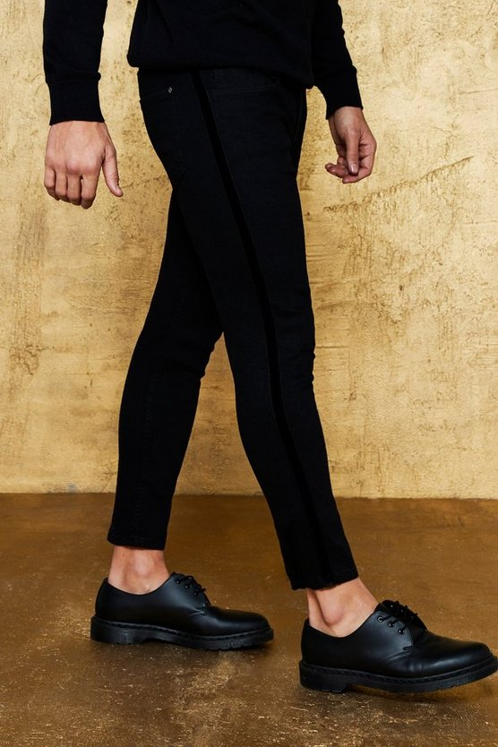 Super Skinny Jeans with Velvet Side Tape