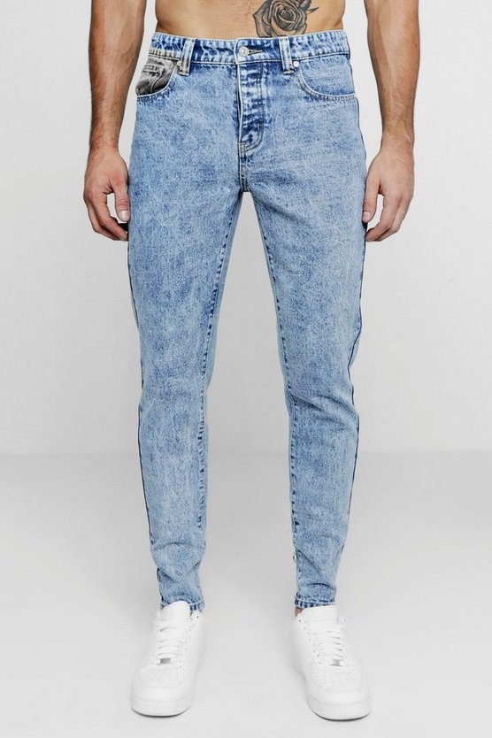 Skinny Fit Rigid Denim Jeans