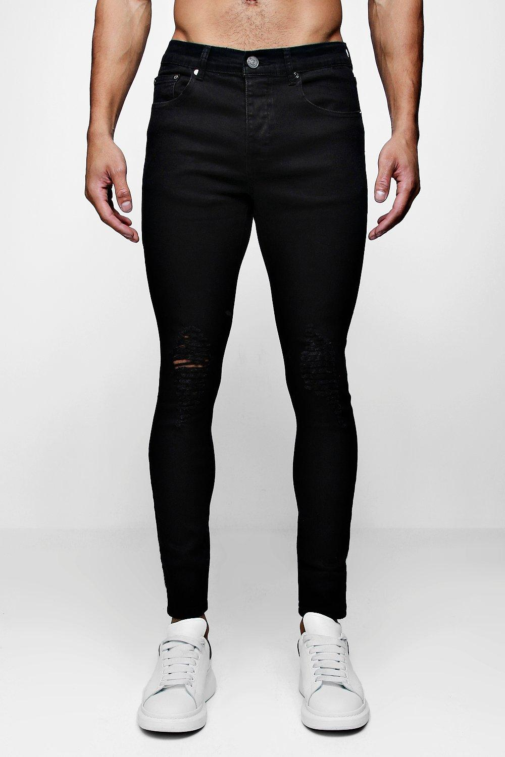 Super Skinny Jeans with Heavily Distressed Knees