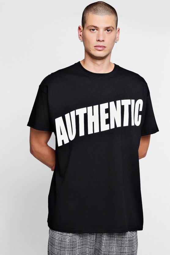 Oversized Authentic Print Tee