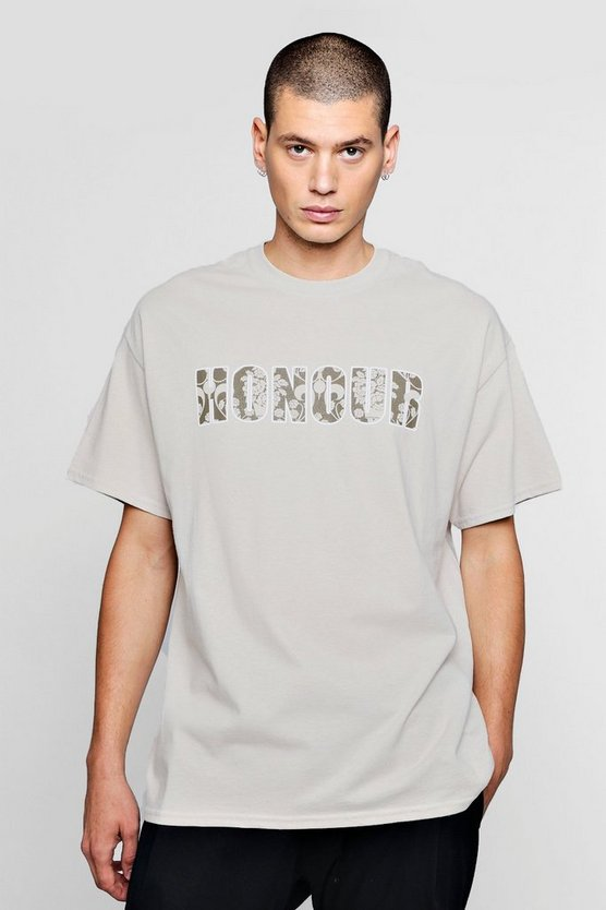 Honour Slogan T-Shirt