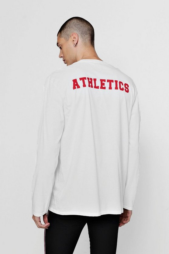Oversized T-Shirt With Athletics Back Print