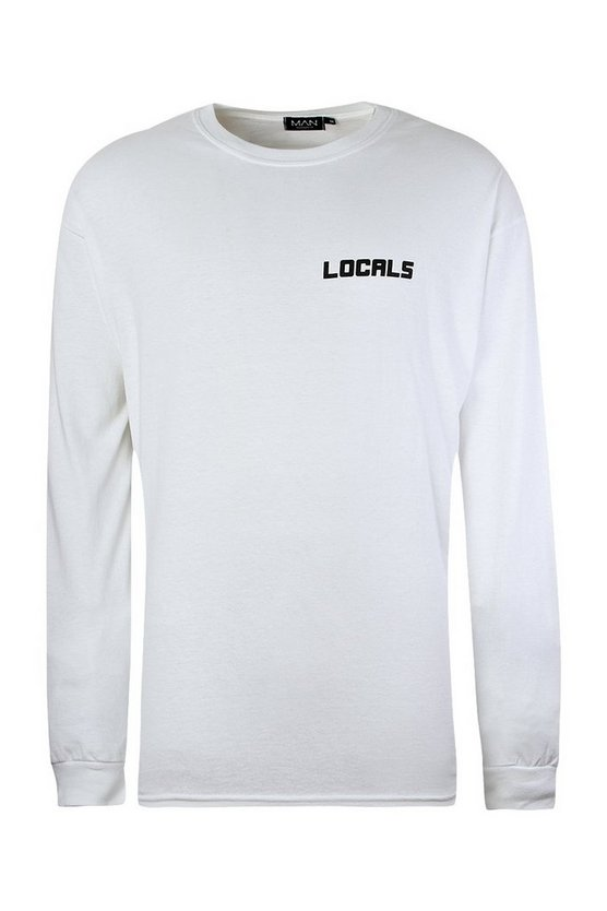 Oversized Long Sleeve T Shirt With Multi Print Oversized Long Sleeve T Shirt With Multi Print by Boohoo