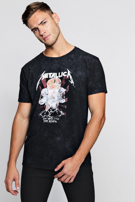 Metallica Washed Licensed T-Shirt