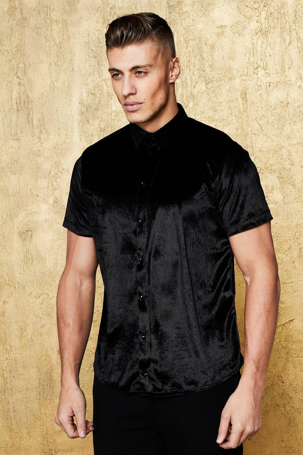 Short Sleeve Velour Shirt