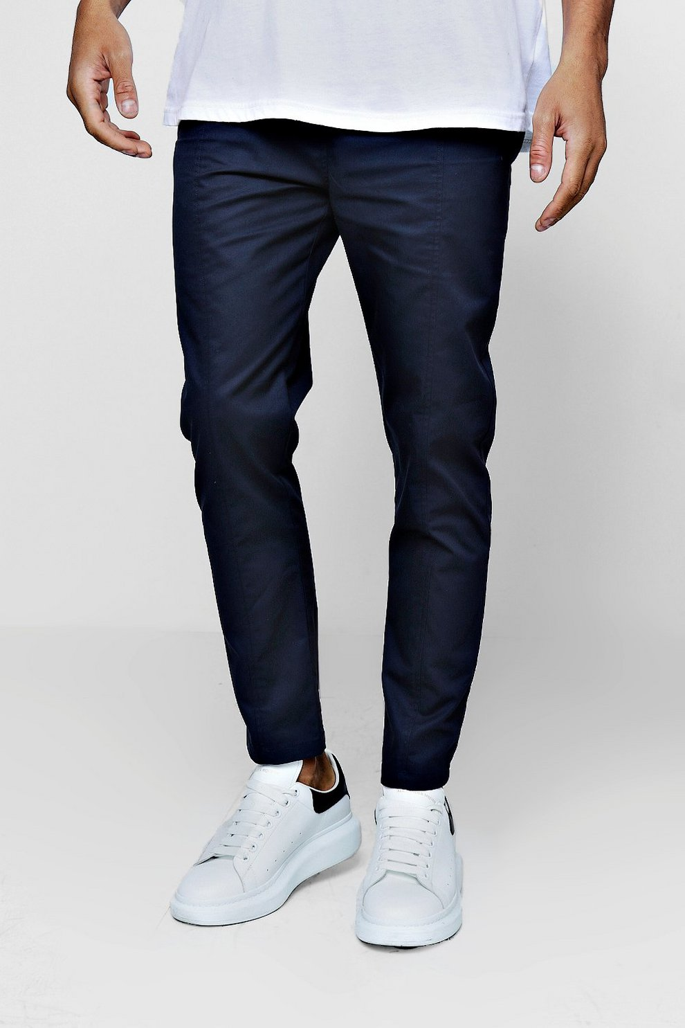 1e3c26933816 Cotton Smart Jogger Style Chino Trouser | Boohoo