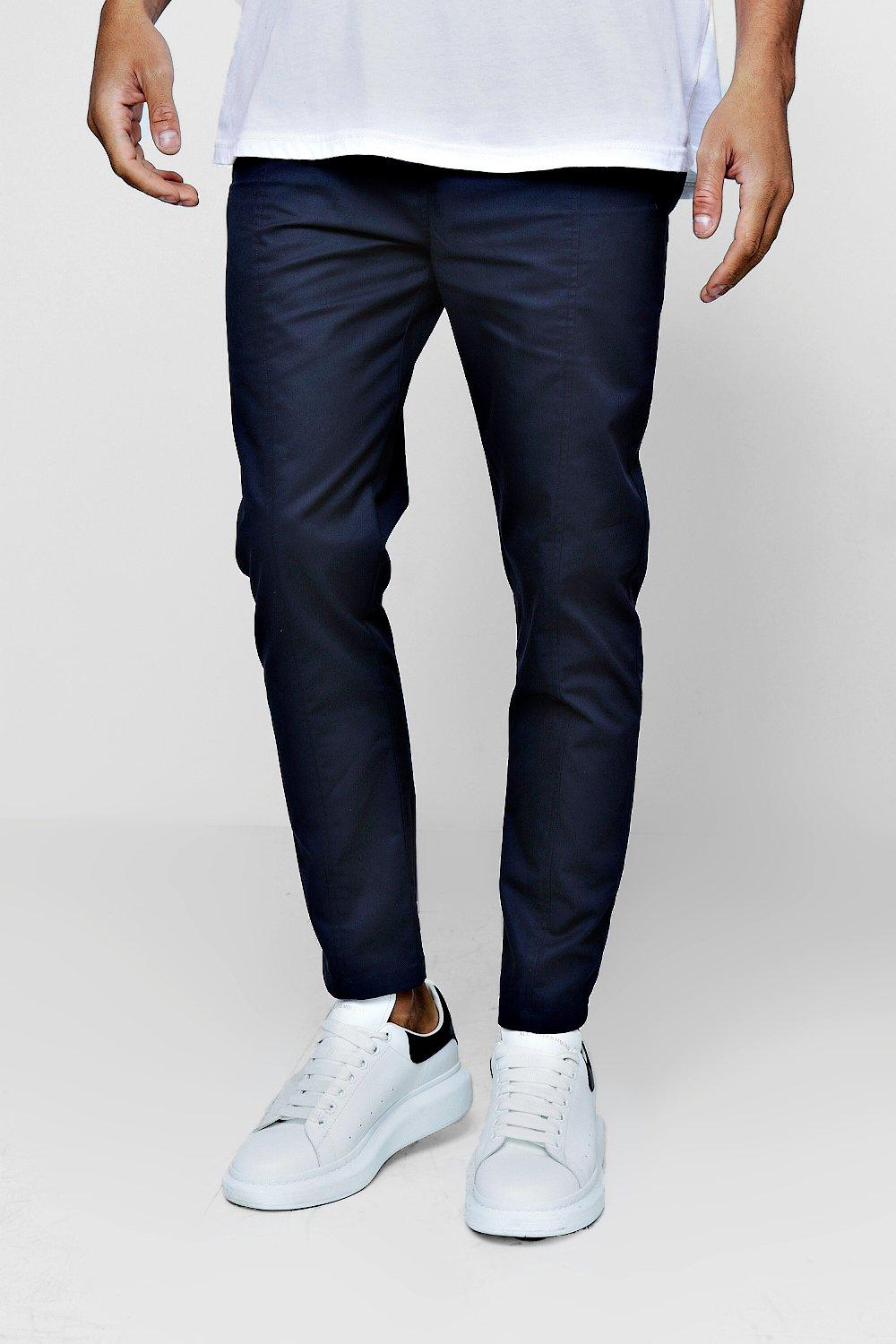 d3b916196cec Mens Navy Cotton Smart Jogger Style Chino Trouser. Hover to zoom