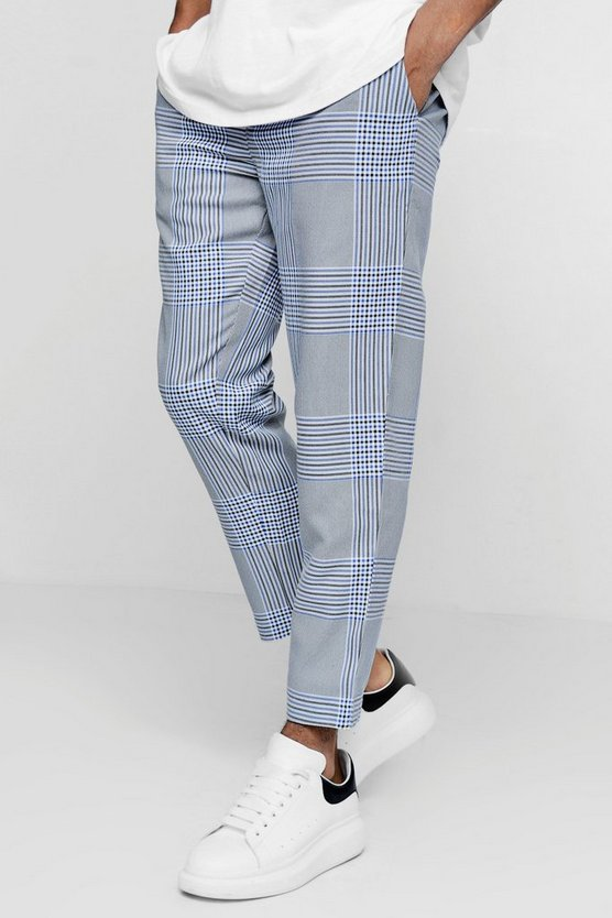 Smart Checked Cropped Jogger