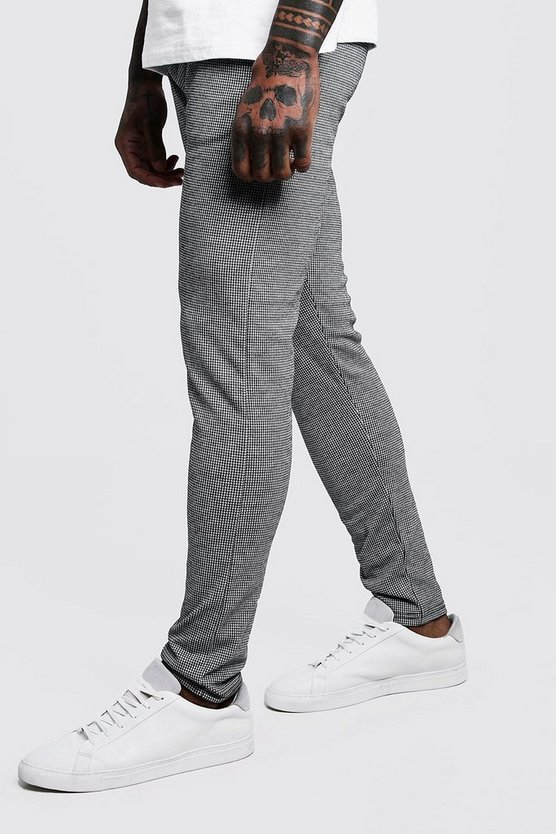 Houndstooth Skinny Fit Jogger
