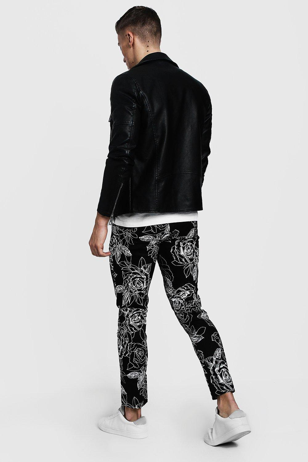Chino Rose Tapered black Print Monochrome twTRS