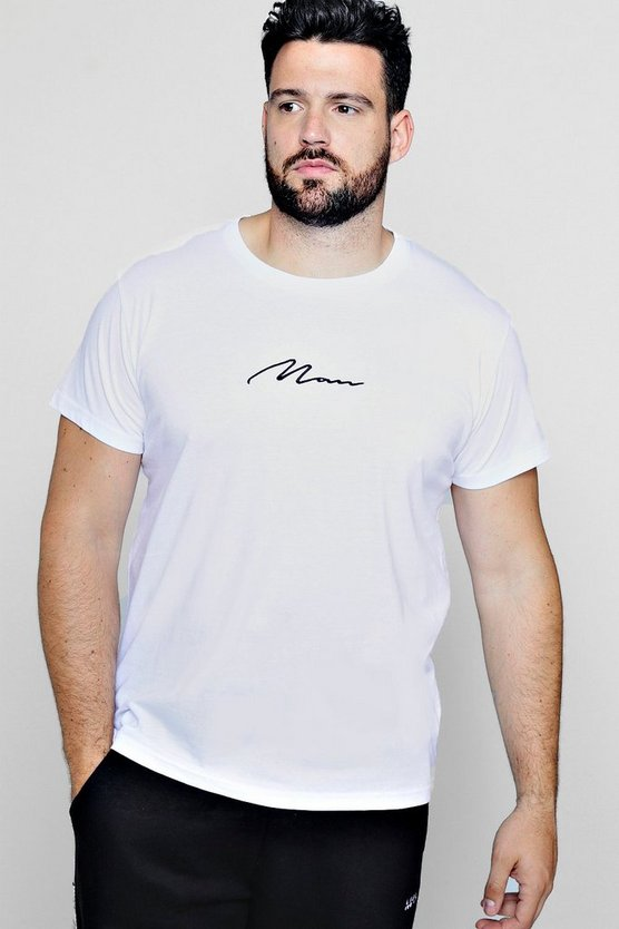 Big And Tall Longline MAN Signature T-Shirt