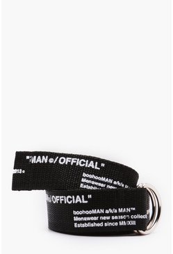 Herr Black Man Certified Printed Webbing Belt