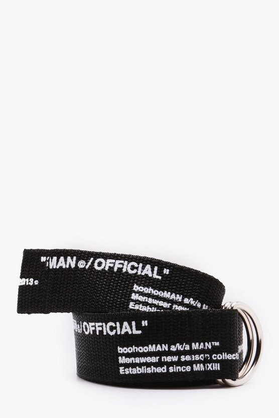 Man Certified Printed Webbing Belt
