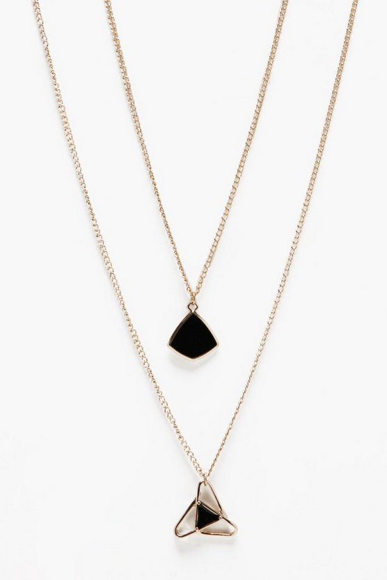 Geo Charm Layer Necklace