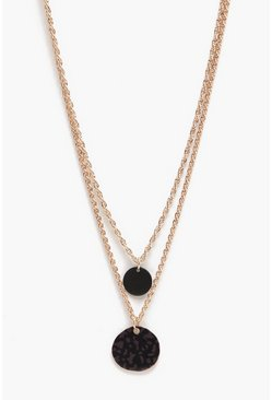 Mens Gold Disco Double Layer Necklace