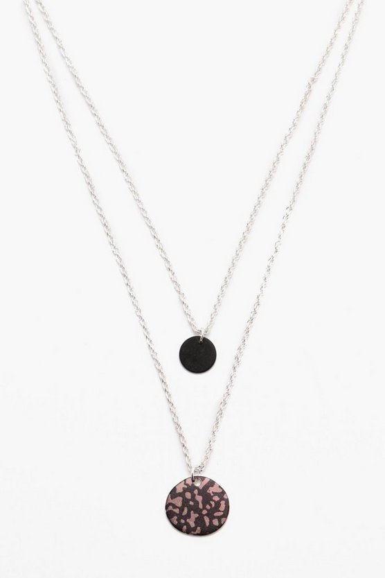 Disc Double Layer Necklace
