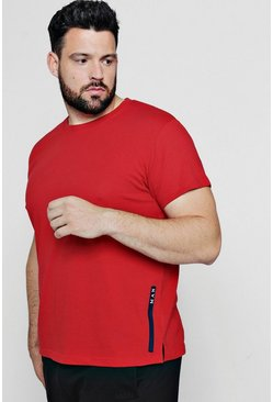 Mens Red Big And Tall MAN Sport Logo Placement T-Shirt