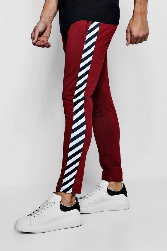 Wine Side Stripe Tricot Joggers