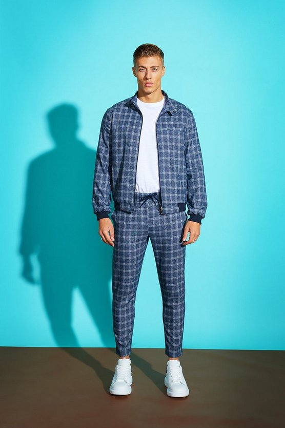 Jaspe Check Harrington Jacket